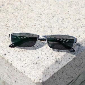 Photochromic Half Rimless Reading Glasses Outdoor Men Reader +1.0 ~+4.0 UV B866