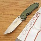 "Ontario RAT I Linerlock Folding Knife 3.5"" AUS-8 Steel Blade Green Nylon Handle"
