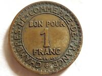 1923 French One Franc Coin