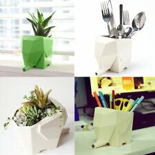 Kitchen Cutlery Drainer Elephant Jumbo Tableware Holder Plant Pot Pen Organizer
