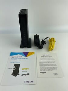 Netgear C3700V2 N600 WiFi Cable Modem Router 8x4 Download speeds