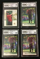 2001 Tiger Woods 4 card Rookie lot 3x Upper Deck 1x SP Authentic GEM MINT 10 !!
