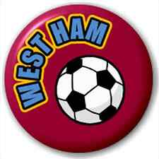 West Ham Fc Supporters Football 25Mm Pin Button Badge Lapel Pin