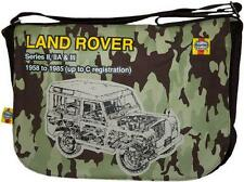 NEW LAND ROVER DEFENDER HAYNES MANUAL CAMOUFLAGE MESSENGER SHOULDER BAG BNWT