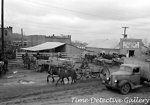 A Street Scene in Eufaula, Oklahoma - 1940 - Historic Photo Print