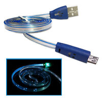 Micro USB Light up LED Sync Data Charge Cable Samsung Galaxy S2 S3 S4 Tablet HTC