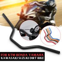 Black 7/8 22mm Motorcycle Handlebars Handle Bar For KTM Honda Yamaha Dirt Bike