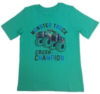 NWT Jumping Beans, Monster Truck Crush Champion Tee Green T-Shirt Boys Size 6, 7