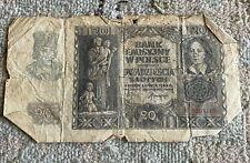 money finance, banknotes, Poland Polish, 20 zlotych 1940