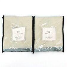 Veratex Villa Nueva Cream Textured Square Euro Pillow Shams Set Of Two