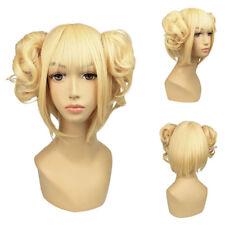 Himiko Toga My Hero Academia Anime Cosplay Props Fancy Dress Wig Light Blonde