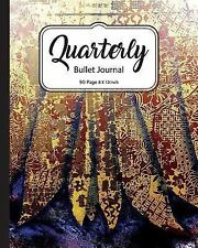 Journals to Write In: Quarterly Bullet Journal: Japanese Cheerful Art, Dot...