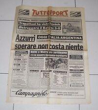 Tuttosport MONDIALI SPAGNA 1982 ITALIA ARGENTINA Fifa World cup 29 giugno
