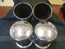 Pacer Push Through Center Cap Hubcaps Set of 4 Stainless Steel