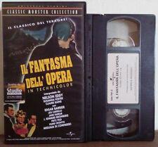 VHS FILM ITA Horror IL FANTASMA DELL'OPERA In Technicolor ex nolo no dvd(VH37)