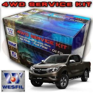 Wesfil Air/Oil/Cabin/Fuel Filter Service Kit For Ford Ranger/Mazda BT-50 2 2L TD
