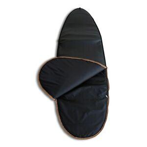 Luxe Vegan Leather 6'4 Fish surfboard Bag 10mm YKK zips
