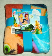 DISNEY FAIRIES TINKERBELL SILVERMIST ROSETTA SHERPA Throw New 40x50 Polyester