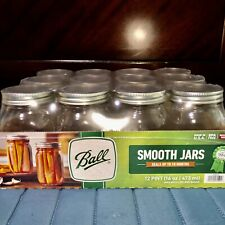 MASON JAR BALL 12/box PINT 16oz Smooth Sided *NEW* Decorating, Projects, Canning