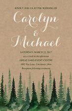 Wedding Invitations Pine Trees Rustic 50 Invitations & RSVP Cards