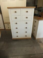 BUCKINGHAM PAINTED LARGE 4+4 CHEST OF DRAWERS BESPOKE SIZES & COLOURS SOLID OAK