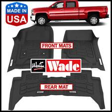 Westin Wade Sure-Fit Custom Molded 2014-2018 Chevy Silverado Crew Cab Floor Mats