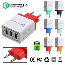Fast Quick Charge Adapter Universal QC 3.0 USB Hub US EU Plug Wall Power Charger