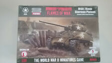 1/100 Scale Flames of War WWII USA WWII M4A1 76mm Sherman Platoon