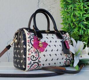 COACH 59328 bandana butterfly mini Bennett  crossbody satchel Purse handbag EUC