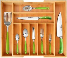 Bamboo Kitchen Drawer Organizer - Expandable Silverware Organizer/Utensil Holder