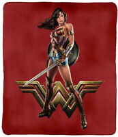 Justice League Wonder Woman Polar Fleece Printed Throw Rug Picnic Blanket
