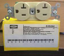 New Hubbell 5352AI Duplex Receptacle (10/Box)