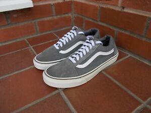VANS Grey 'OLD SKOOL' Suede & Textile Trainers * 8.5 uk *
