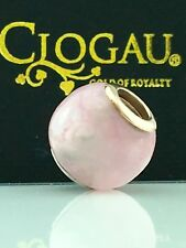 Clogau Gold Sterling Silver & 9ct Rose Gold Pink Chalcedony Bead Charm £119