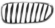 MASCHERINA CALANDRA ANTERIORE SX PER BMW Z4 E85 E86 2003 - CROMATA NERA