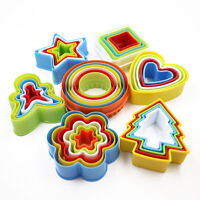Colorful Cookies Fondant Cake Decorating Sugarcraft Plunger Cutter Tools Mold Kw