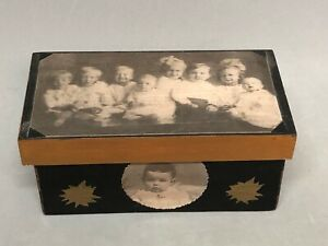 Primitives by Kathy Decoupage Wood Box Antique Look Babies Sonja Sandell Artist