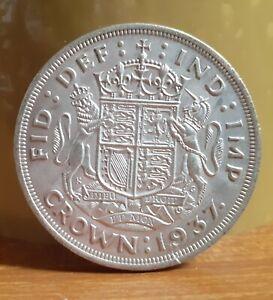1937 United Kingdom UK GB .500 Silver Crown Coin - King George 6th Coronation