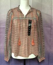 Lucky Brand Sheer Top, XS, 100% Polyester, Long Sleeve, NWT