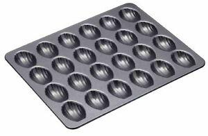 NEW MINI MADELEINE PAN 24 Hole Non Stick Shell French Cake Sponge Tea Mould Mold