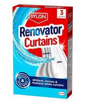 2x Dylon Net Curtain Renovator Whitener Revive Freshens White Curtains 3 Sachets