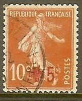 "FRANCE TIMBRE STAMP N° 146 "" CROIX ROUGE , SEMEUSE FOND PLEIN"" OBLITERE TB"