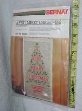 Bernat a very merry Christmas 10x20 1982 123 ply Persian type gold metallic yarn