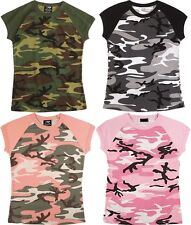 Womens T-Shirt  2 Tone Military Camouflage Raglan Army Camo Short Sleeve Rothco