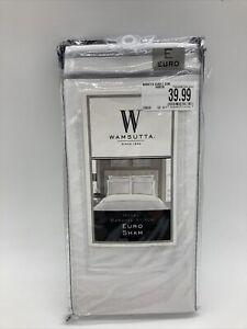 "Wamsutta® European Pillow Sham Euro 26"" x 26"" Charcoal Baratta Stitch NIP"