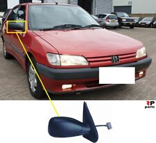 For Peugeot 306 93-02 Right Driver side Electric wing mirror glass with plate