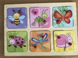 Wooden Insects Puzzle Steiner Montessori EYFS