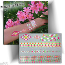 ►TATOUAGE TEMPORAIRE FLUORESCENT bracelet (tattoo éphémère femme, autocollant)◄