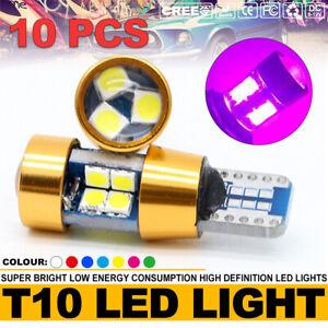 10Pcs Pink T10 LED 19smd Car Canbus Error Free Side Wedge Light Bulb W5W 194 168