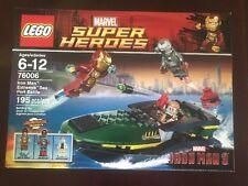 Lego Marvel Super Hero Iron Man: Extremis Sea Port Battle 76006 NiB